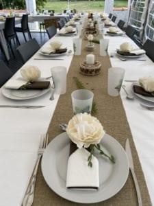 Décoration de table pour mariage à la résidence Romaric