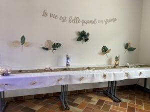 Décoration table mariage intérieur