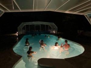 Piscine ouverte de nuit Résidence Romaric - Chauffé - Résidence de vacances