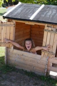 Cabane pour enfant - espace de jeux - Résidence Romaric - Vacances