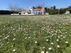 Jardin Grand espace vert enfant jouer soleil calme Jard-sur-Mer Vendée Résidence de charme